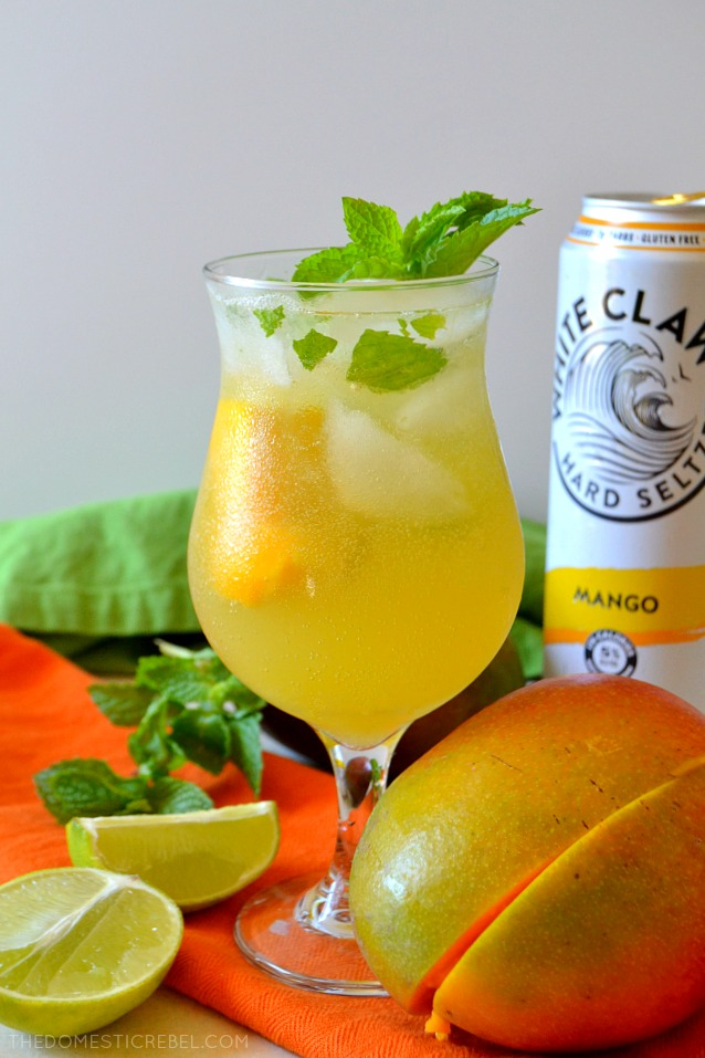 WHITE CLAW MANGO MOJITOS are super refreshing cocktails made with Mango White Claw Hard Seltzers! Fizzy, light, sweet and tropical thanks to the mango, they're such a fun way to serve up classic cocktails with the bubbly addition of White Claw!