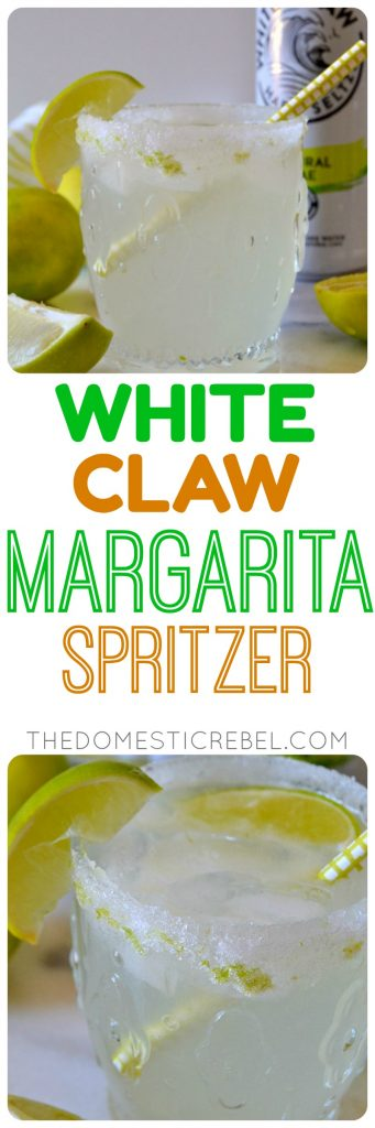 These WHITE CLAW MARGARITA SPRITZERS are ultra refreshing, light and tangy with a hint of sweetness and only a few simple ingredients you probably have on hand! This takes the classic marg to a whole new level with a hint of fizz from the White Claw and a lime sugar rim!