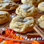 These are the BEST EVER Pumpkin Snickerdoodle Cookies! Soft and chewy with a fluffy interior and tons of delicious pumpkin spice and cinnamon sugar flavors! Makes a big batch and great for gifting!