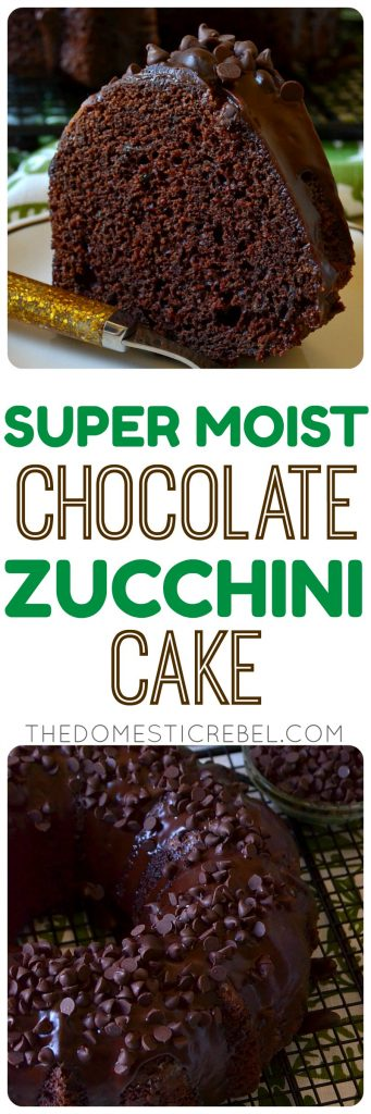 This Chocolate Zucchini Cake is super moist, tender, rich and chocolaty with an irresistible ganache frosting and a secret ingredient: zucchini! The perfect way to use up your garden's zucchini and to sneak veggies into a delicious cake!