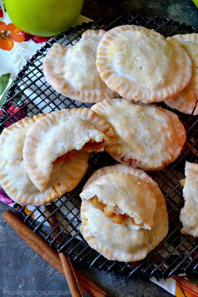 These Air-Fryer Apple Hand Pies are going to be a staple in your kitchen! Tender, buttery and flaky pies air-fried to perfection and filled with a bubbly, gooey homemade apple pie filling. So easy, delicious and irresistible!
