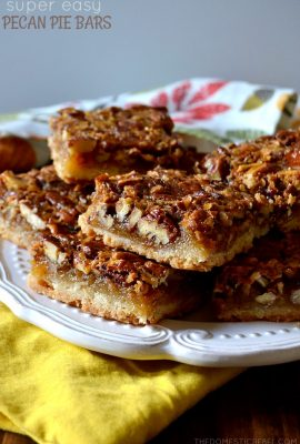 Super Easy Pecan Pie Bars