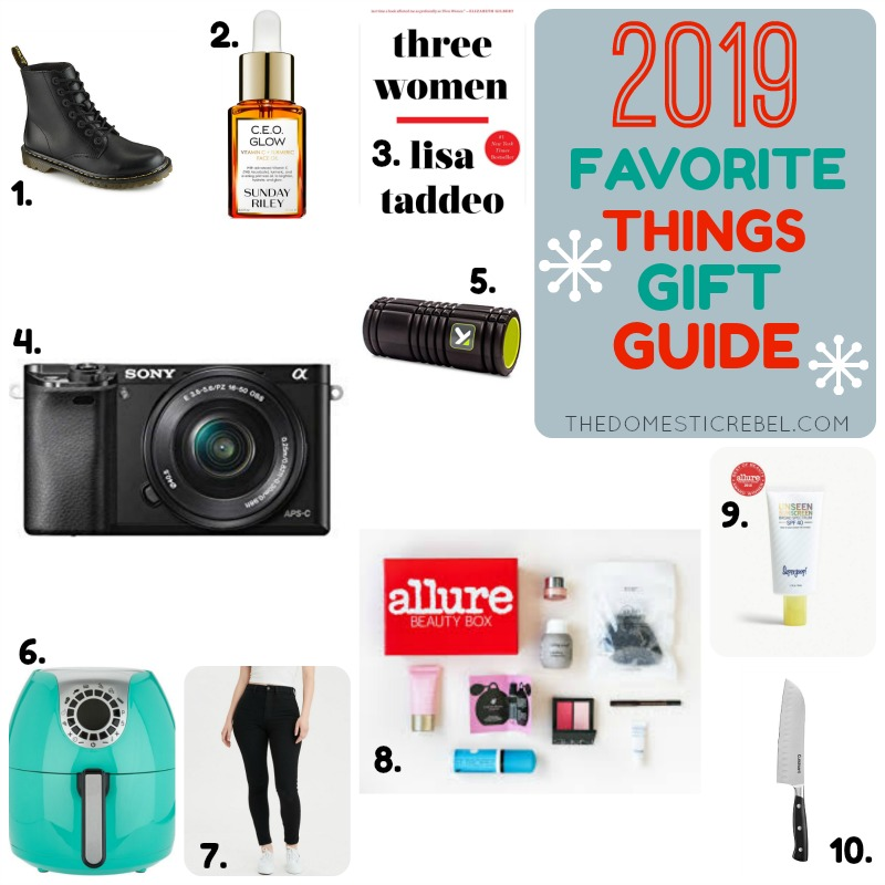2019 favorite things gift guide collage