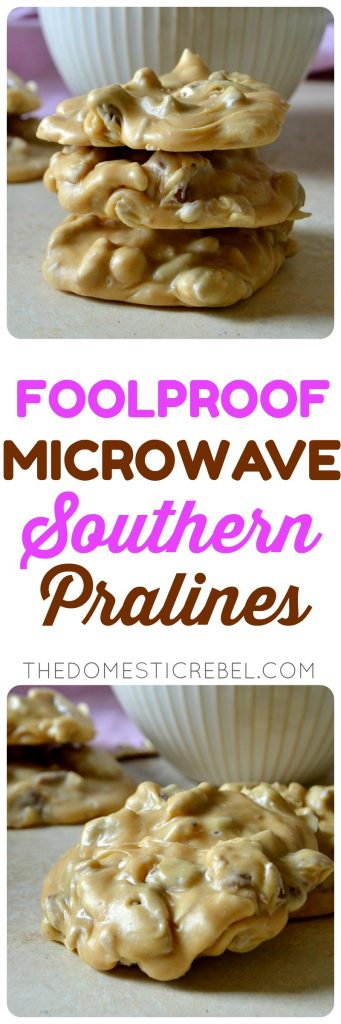 microwave southern pralines collage