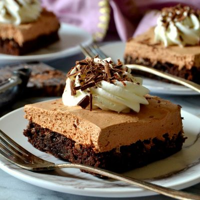 Best Ever French Silk Pie Brownies