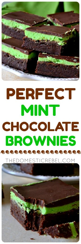 perfect mint chocolate brownies collage