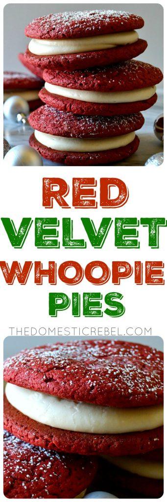 red velvet whoopie pies collage