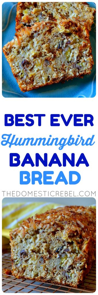 hummingbird banana bread collage