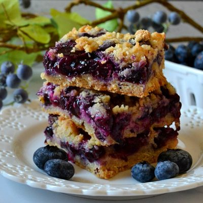 The Best Blueberry Crumb Bars