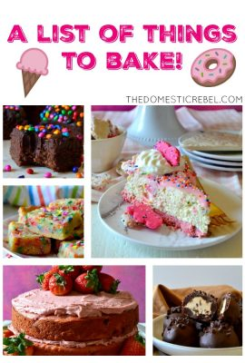 A List of Things to Bake!