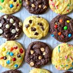 These Cake Mix Cookies are a super easy, super fast cookie recipe using only three ingredients: cake mix, oil, and eggs to create soft and chewy cookies in no time! With HUNDREDS of mix-in options to choose from to customize each and every craving. So fun to make with kids, too!