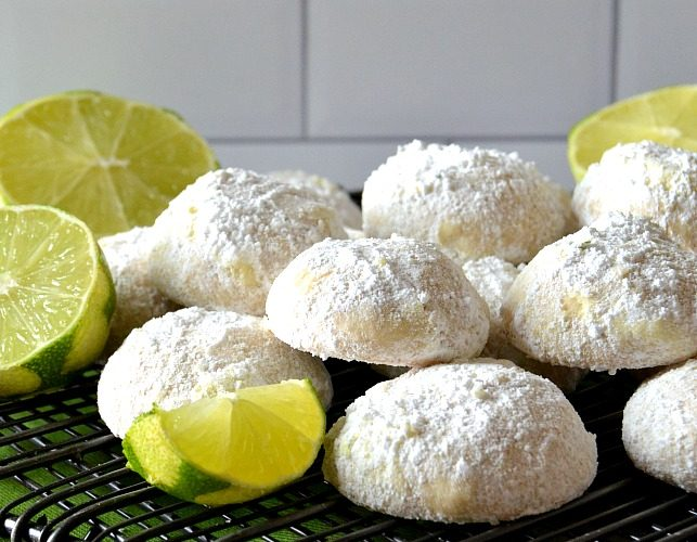 Key Lime Cooler Snowball Cookies