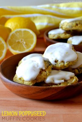 These Lemon Poppyseed Muffin Mix Cookies are made with, you guessed it, a muffin mix for supremely soft, chewy and totally delicious cookies! With plenty of bright, zesty lemon flavor and a lemony butter glaze to top it off!