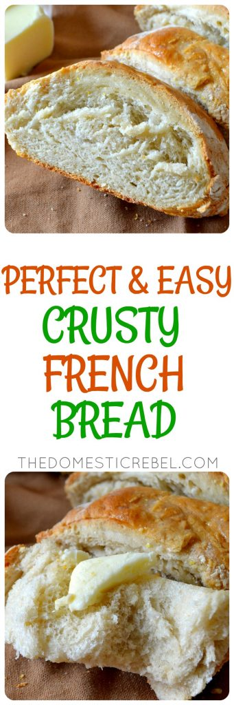 crusty french bread collage