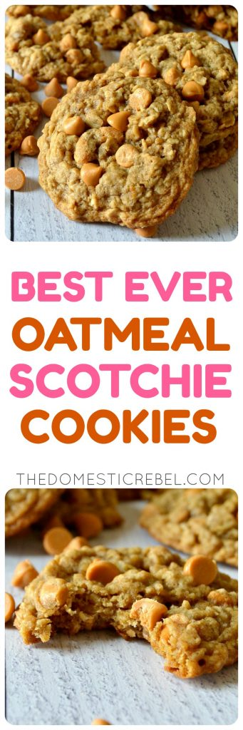 oatmeal scotchie cookies collage