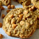 These are the BEST Oatmeal Scotchie Cookies EVER! Soft and chewy with crisp outer edges and stuffed with creamy, caramelly butterscotch chips in every bite! Super simple and absolutely delicious!