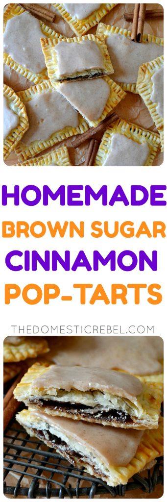 brown sugar cinnamon poptarts collage