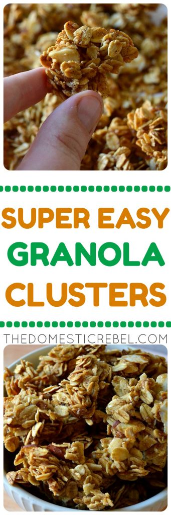 super easy granola clusters collage