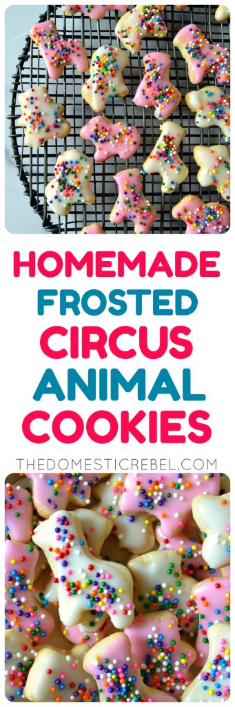 Homemade Frosted Circus Animal Cookies collage
