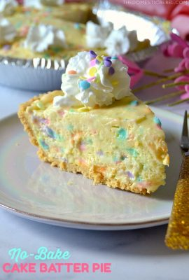 No-Bake Cake Batter Pie