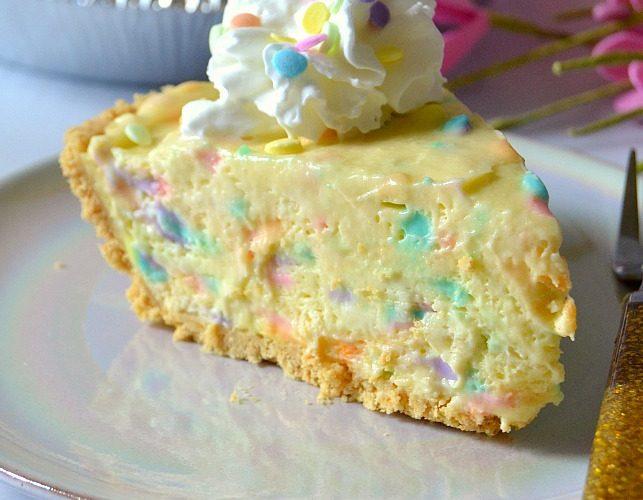 No-Bake Cake Batter Pie