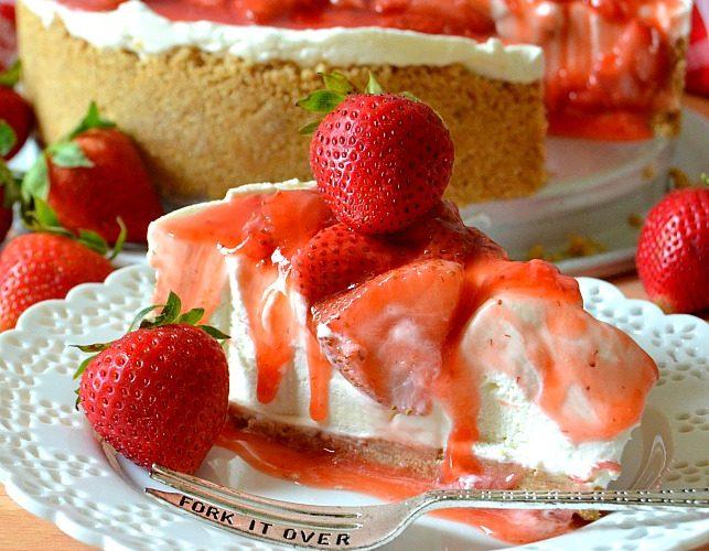 Best Ever No-Bake Strawberry Cheesecake
