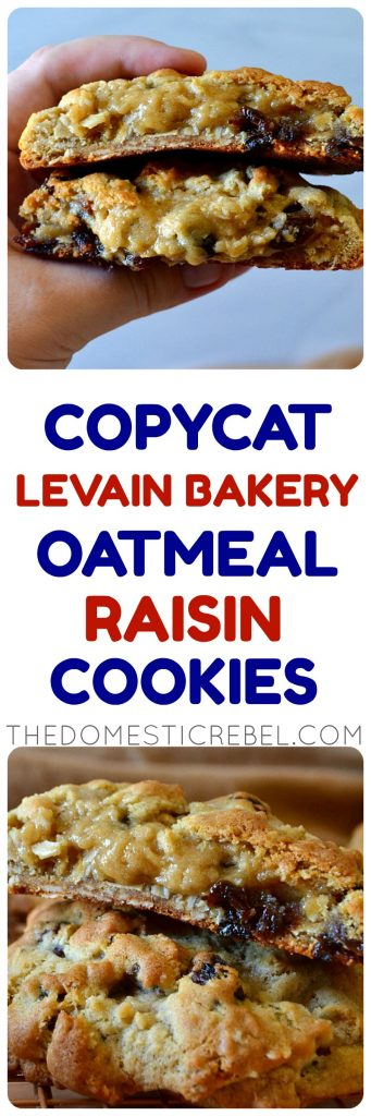 Copycat Levain Bakery Oatmeal Raisin Cookies photo collage