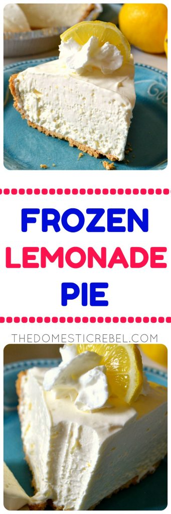 Frozen Lemonade Pie collage