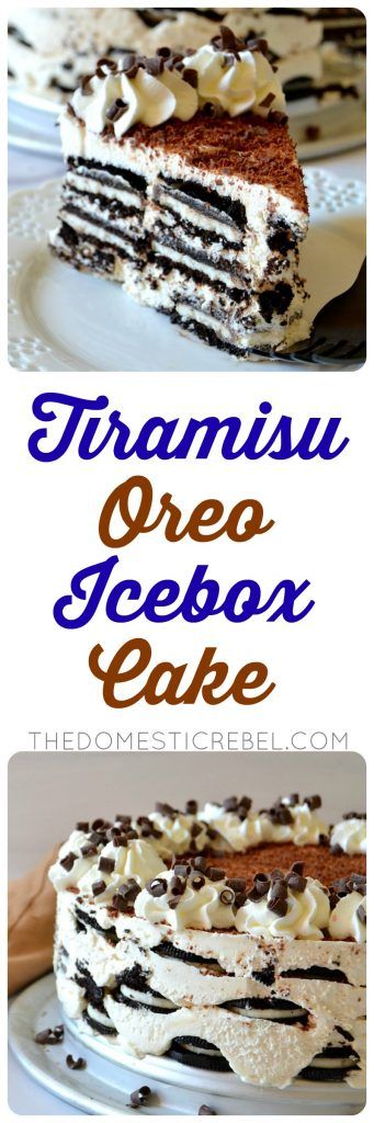 Tiramisu Oreo Icebox Cake photo collage