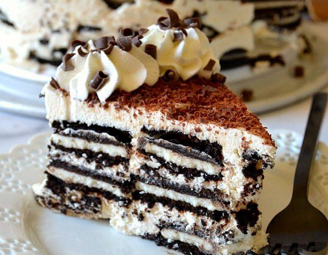No-Bake Tiramisu Oreo Icebox Cake