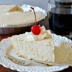 Dr Pepper Pie on white plate with fork