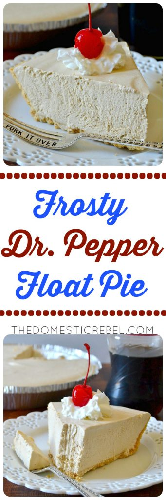 Frosty Dr. Pepper Pie photo collage