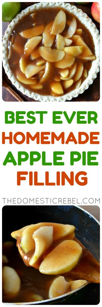 Best Ever Homemade Apple Pie Filling photo collage