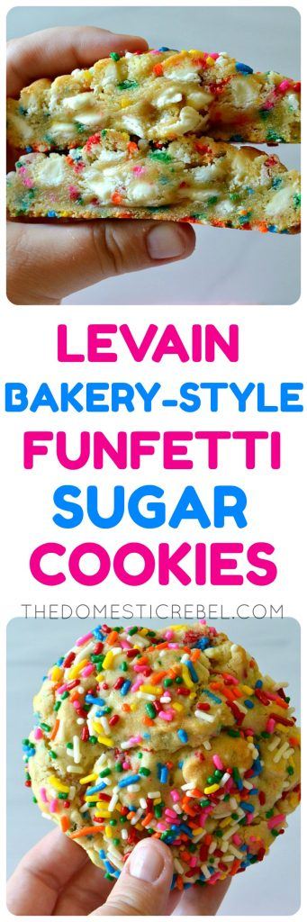 Levain Bakery Style Funfetti Sugar Cookies photo collage