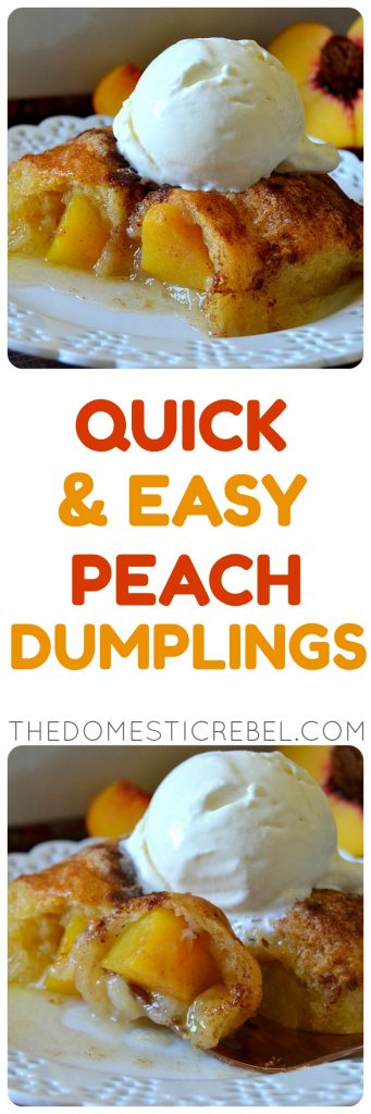 Quick and Easy Peach Dumplings photo collage