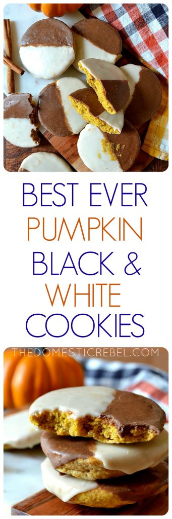 Best Ever Pumpkin Black and White Cookies photo collage