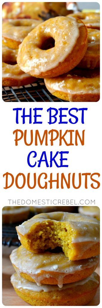 Best Ever Pumpkin Cake Doughnuts photo collage