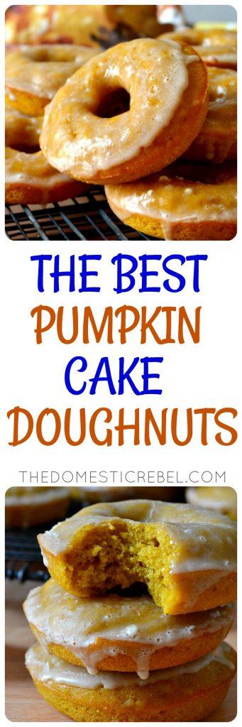 Best Ever Pumpkin Cake Doughnuts photo collage