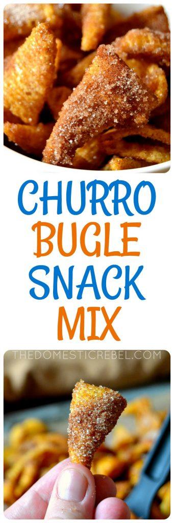 Churro Bugle Snack Mix photo collage