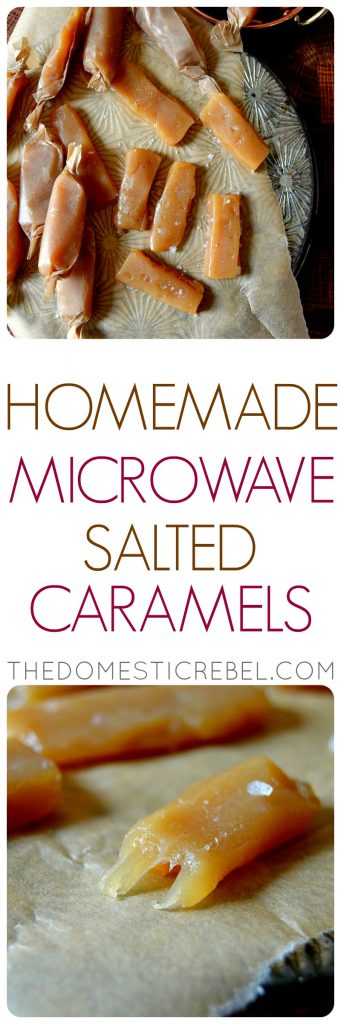 Homemade Microwave Salted Caramels photo collage