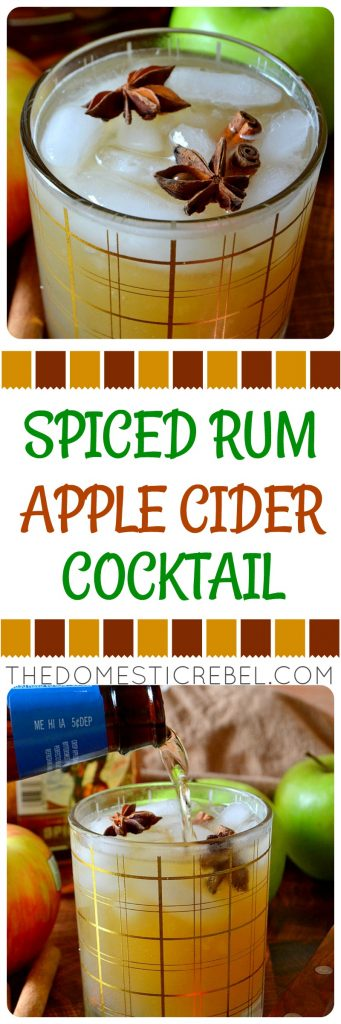 Spiced Rum Apple Cider Cocktail photo collage
