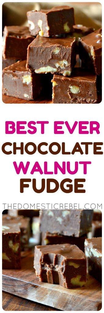 Chocolate Walnut Fudge photo collage