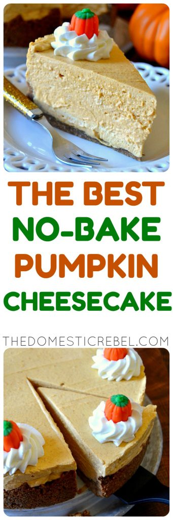 Best Ever No-Bake Pumpkin Cheesecake photo collage