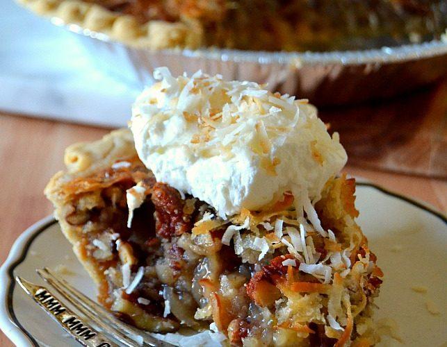 Cream of Coconut Pecan Pie