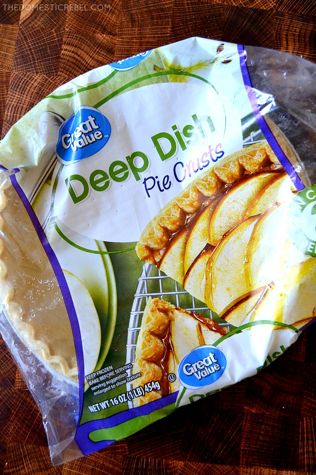 Great Value pie crusts in package