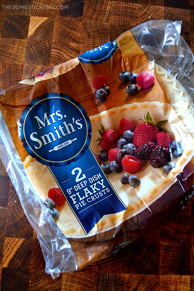 Mrs Smiths package of pie crusts