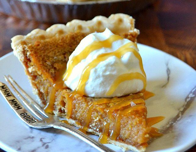 Gooey Salted Caramel Pie