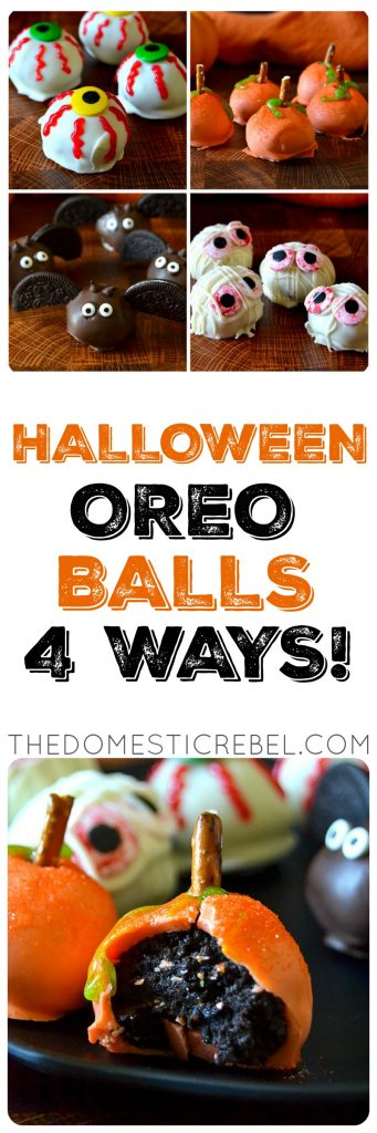 Halloween Oreo Balls 4 Ways photo collage