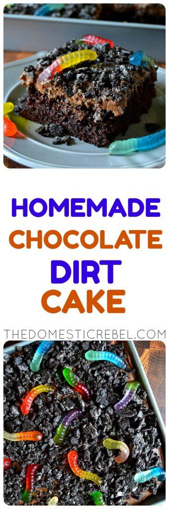 Homemade Chocolate Dirt Cake photo collage