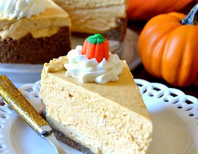 Best Ever No-Bake Pumpkin Cheesecake
